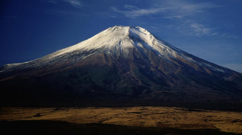 Belle vue sur le mont. Fuji au Japon, le chakra du plexus solaire de la Terre