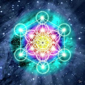 Géométrie sacrée représentant les communautés de la nouvelle terre d'une terre harmonieuse