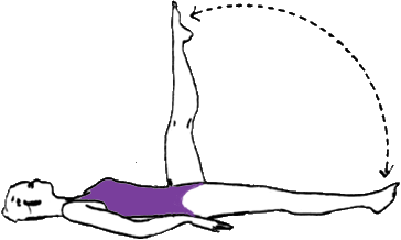 levées de jambes alternatives