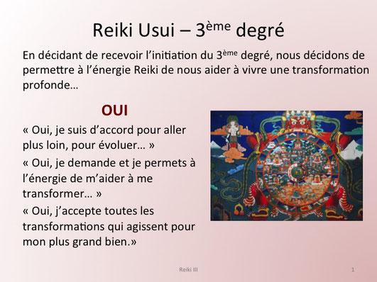 Les degres de reiki